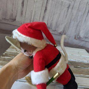 Kurt Adler Holiday - Kurt Adler vintage mouse mice Santa decor plush